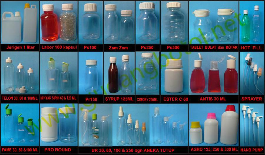 Katalog botol plastik