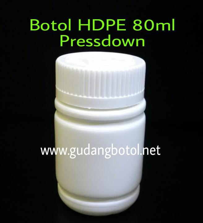 Botol Kapsul HDPE 80ml
